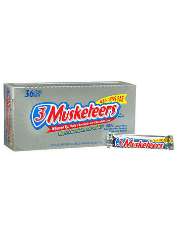 3 Musketeers Chocolate Bars (36 x 60g)