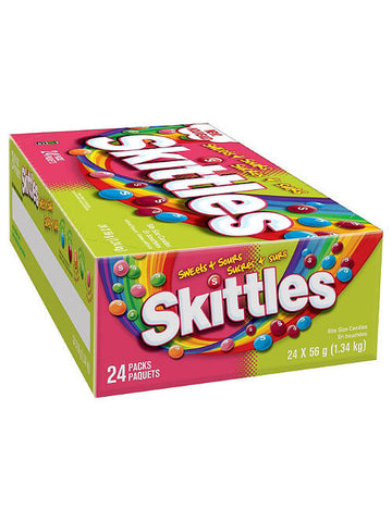 Skittles Sweets & Sours Candy (24 x 56g)