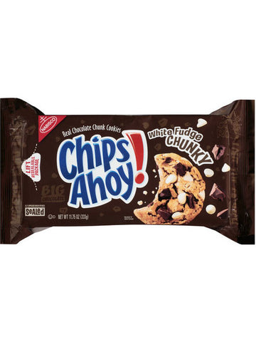 Chips Ahoy White Fudge Chunky Chocolate Chunk Cookies