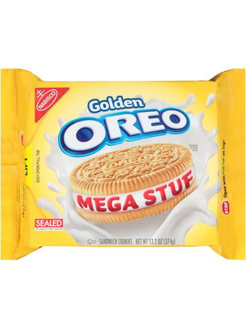 Oreo Mega Stuf Golden Sandwich Cookies