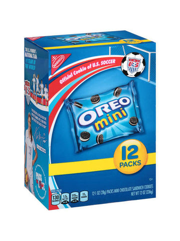 Oreo Mini Oreo Chocolate Sandwich Snack Packs (12pk)