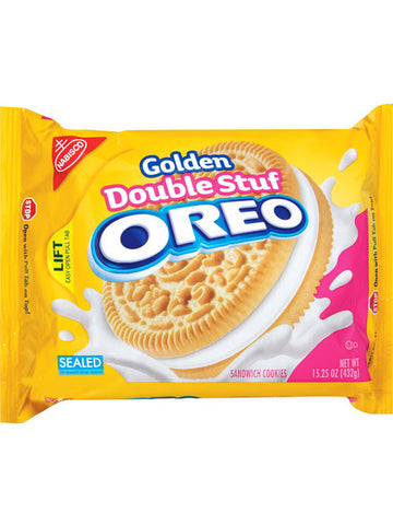 Oreo Double Stuf Golden Sandwich Cookies