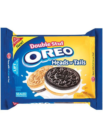 Oreo Double Stuf Oreo Heads Or Tails Sandwich Cookies