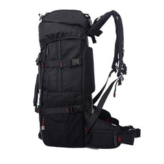 Backpack Waterproof Mountaineering Bags 55L Oxford Lockable and Durable