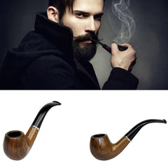 Retro Vintage Smoking Pipe Wooden Style