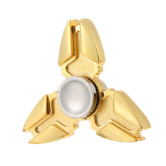 Stainless Steel Metal Hand Fidget Spinner Toy EDC Luxury