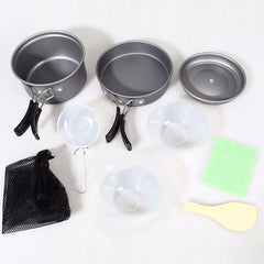 8 Pcs Cookware Tableware For Outdoor Camping Hiking
