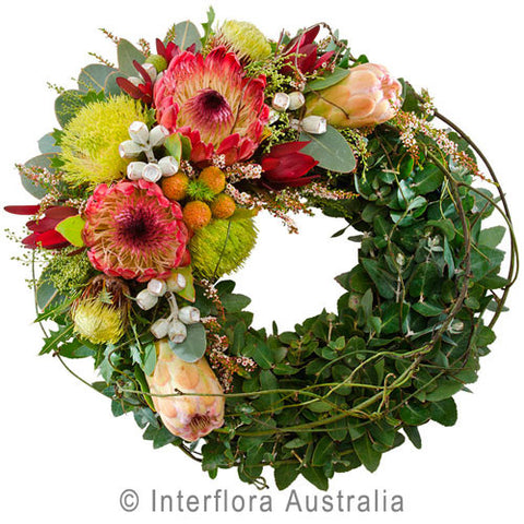 414 WREATH OF INDIGENOUS FLOWERS-LARGE
