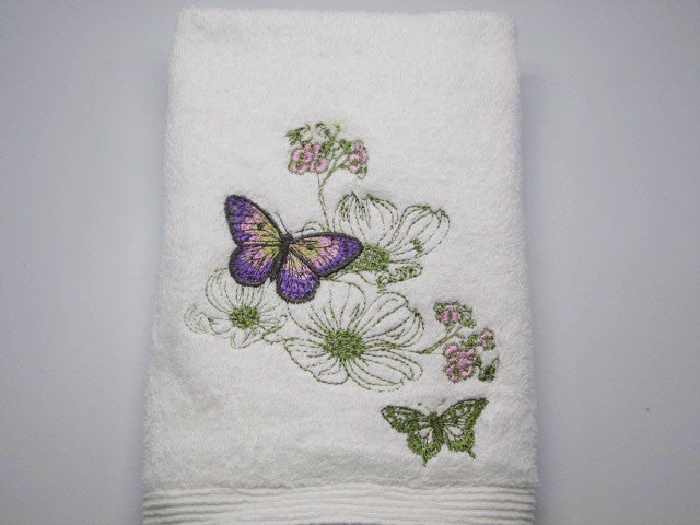 Nature Garden Butterfly Hand Towel