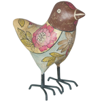 ECOMIX BIRD BROWN FLORAL