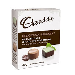 Deliciously Indulgent Milk & Dark Chocolates 40g