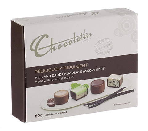 Deliciously Indulgent Milk & Dark Chocolates 80g