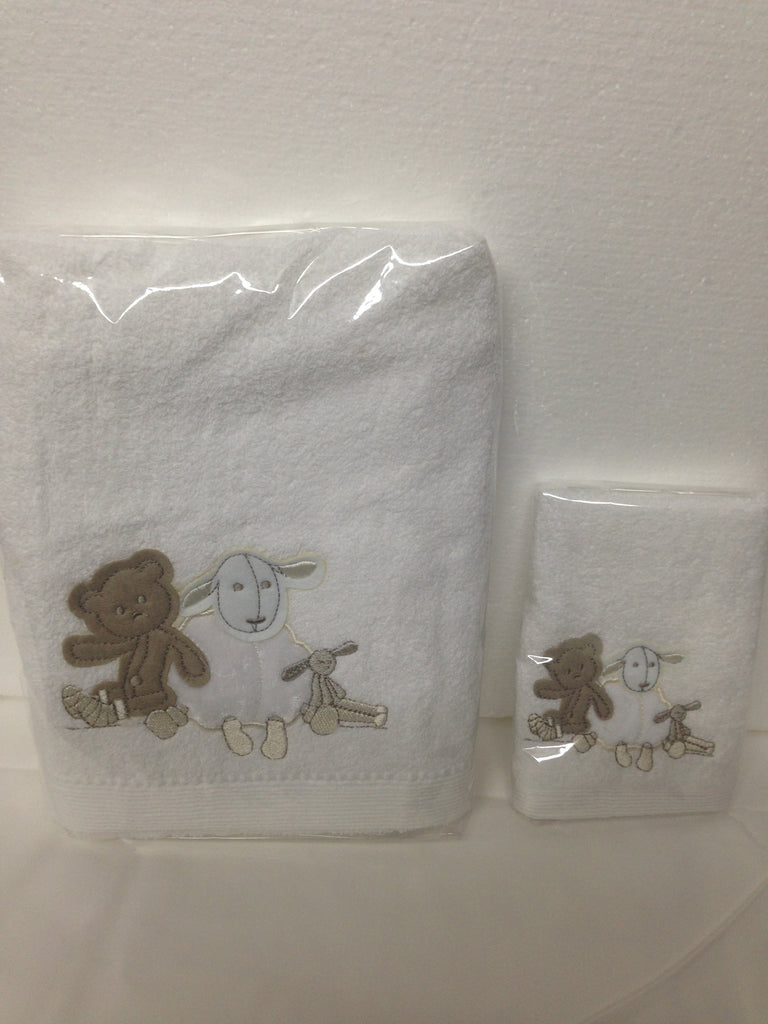 Baby Lamb & Teddy Towel