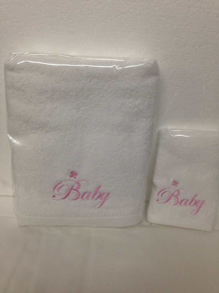 Baby Pink Word Towel