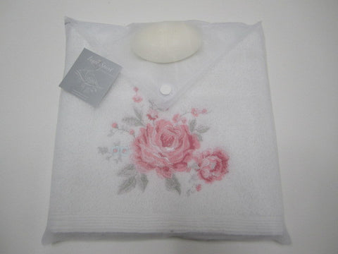 Hand Towel & Soap Gift - Kitty Rose
