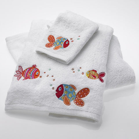 Baby Rainbow Fish Towel and Face Washer Set