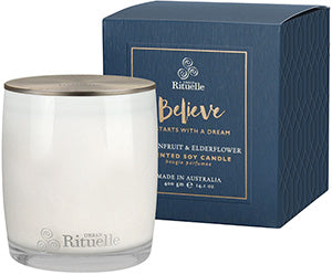 Urban Rituelle - Soy Scented Candle - Passionfruit & Elderflower - Believe
