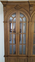 3 bay Glass cabinet with arched doors