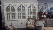 Triple arch wall unit with Glass doors