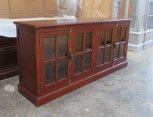 Jarrah tone glass door buffet