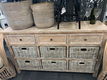 Buffet with 6 Rattan Drawers