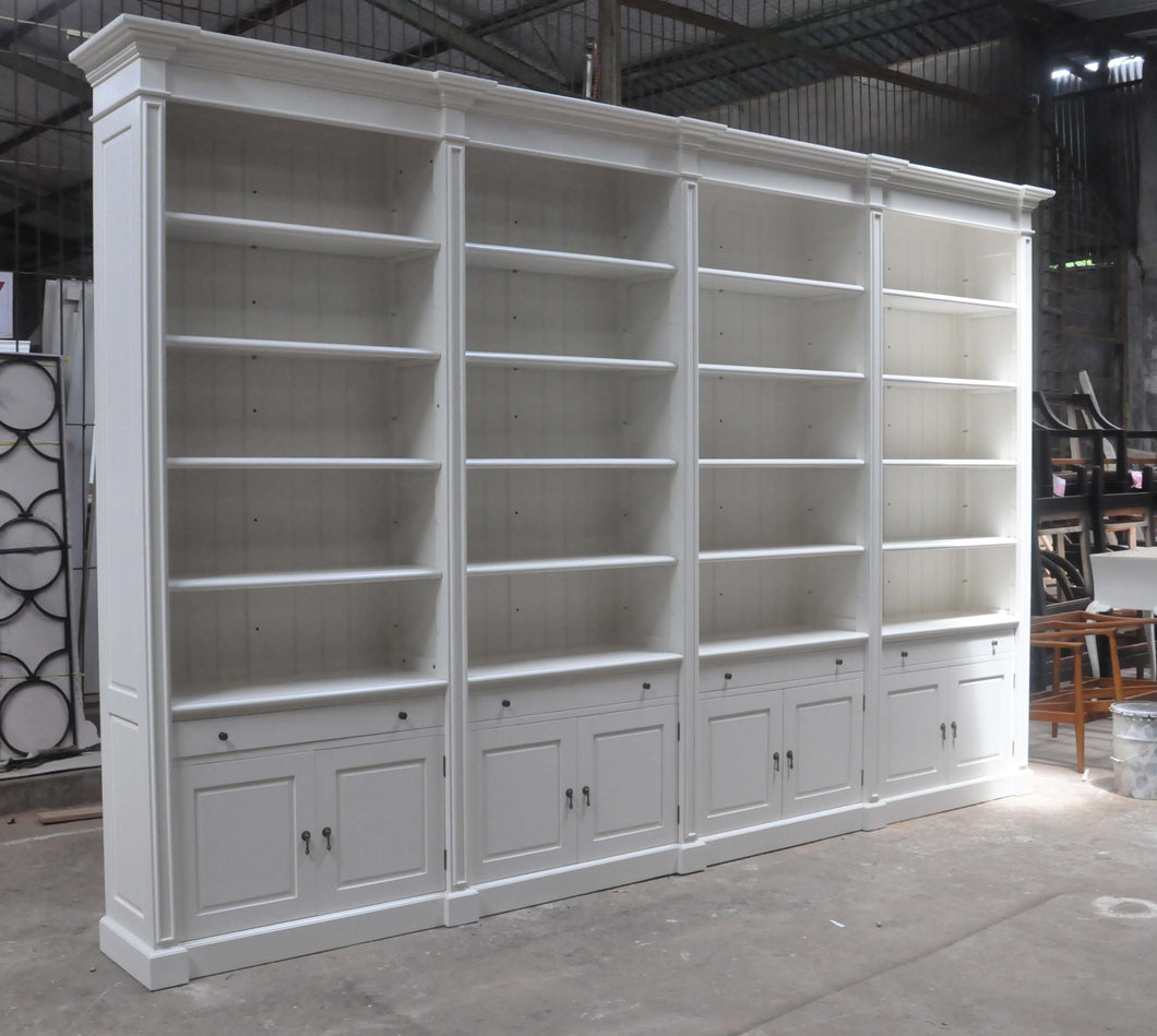 Custom 4 bay bookcase
