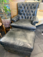 Old Kapry Leather Chair & Ottoman