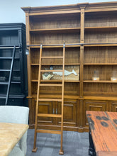 366cm Library bookcase with ladder