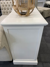 Credenza Glass Door Buffet Antique White