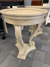 Round Side Table Aged Oak