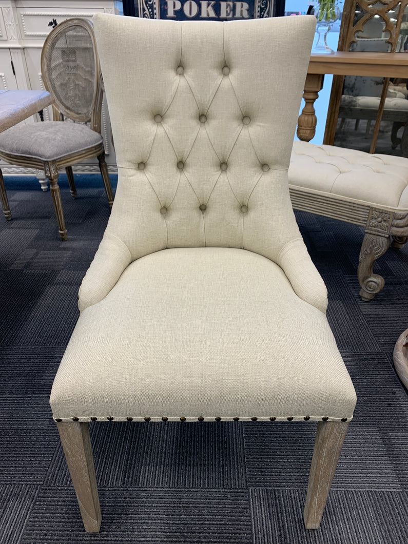 Shine Tufted Dining Chair - Beige