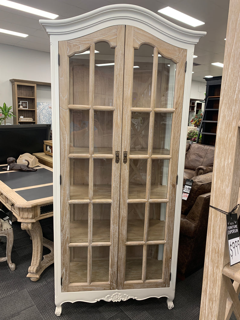 Display Cabinet grey wash and antique white