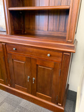 Hamptons 310cm TV wall unit jarrah stain