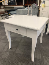 One Drawer White Side Table