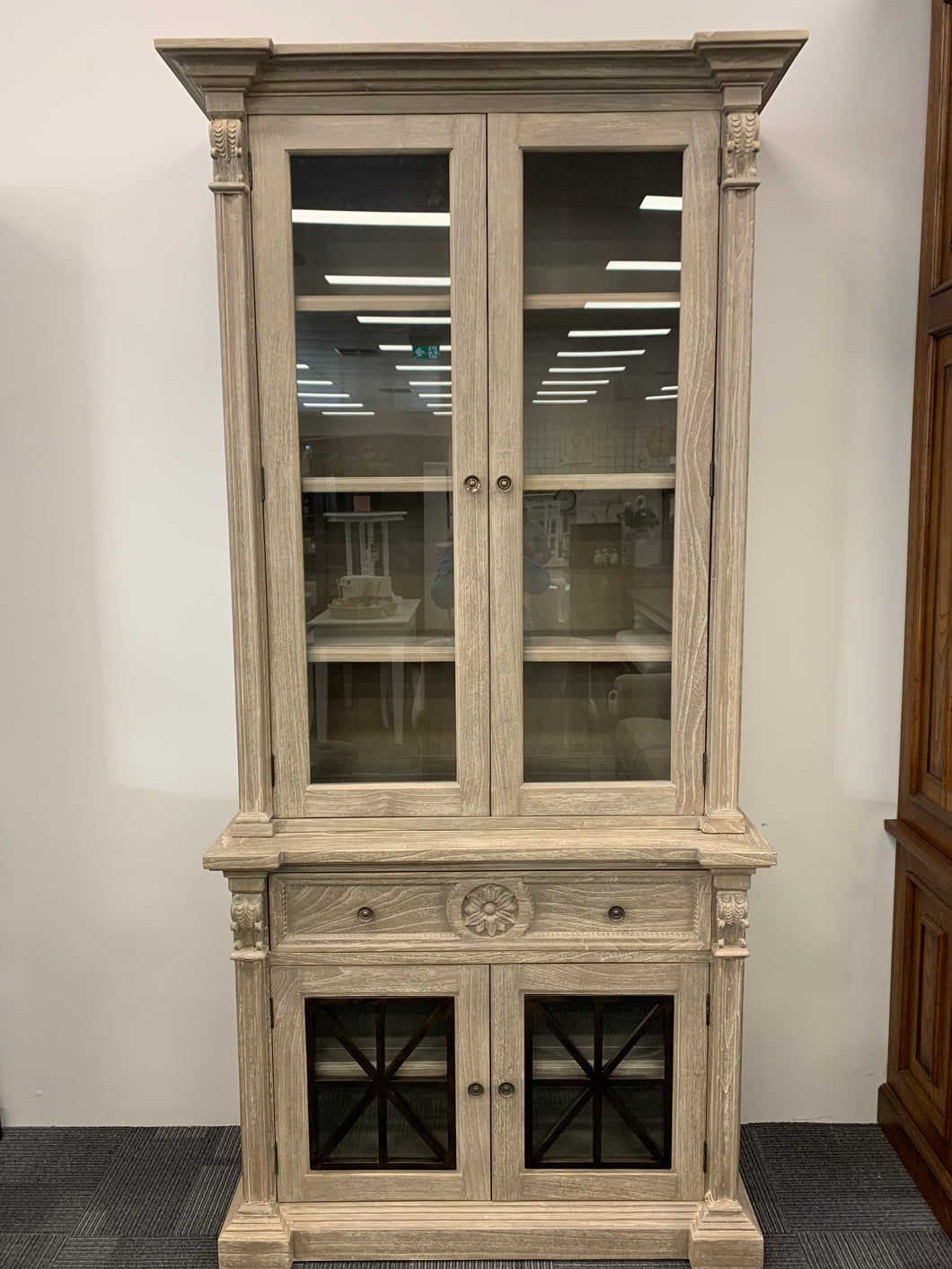 Townsley Bookcase with Glass Doors