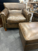 Chelsea Leather Chair and Ottoman