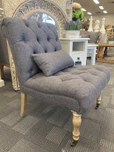 Tufted Accent Chair Night Owl Grey