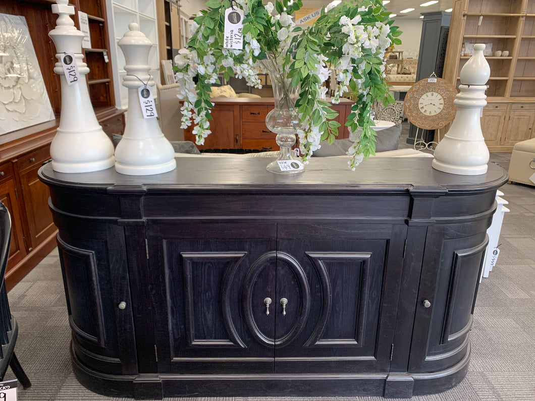 Curved Buffet, 4 doors black