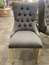 Shine Tufted Dining Chair - Graphite