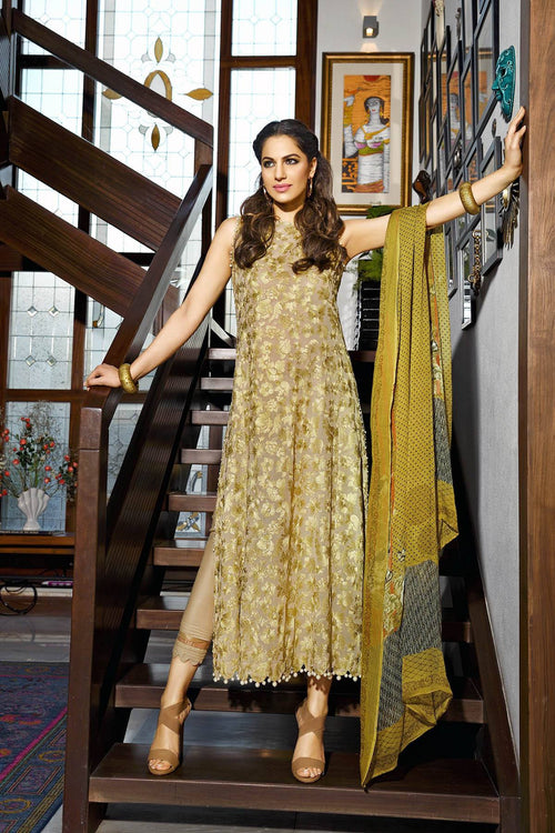 Gul Ahmed Embroidered Swiss Voile Dress, Gul Ahmed | My Desi Shop