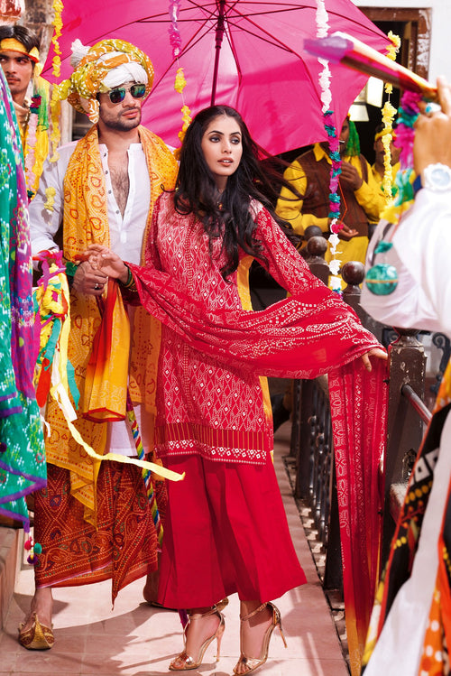 Gul Ahmed Festive Red Chunri, Gul Ahmed | My Desi Shop