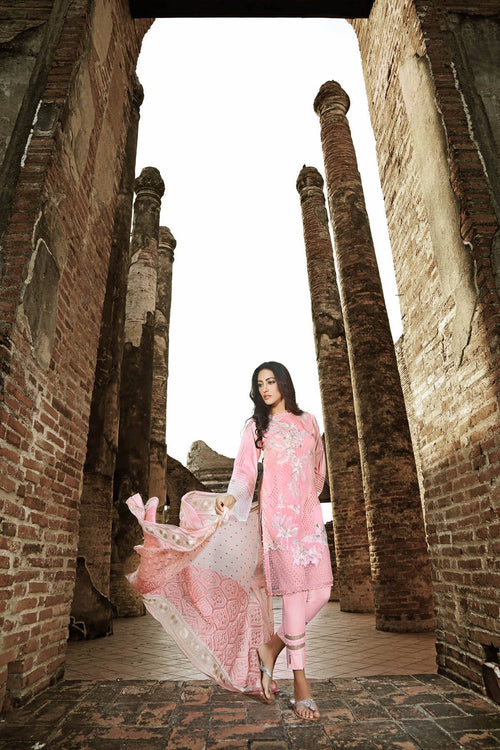 Gul Ahmed Embroidered Chiffon Dress, Gul Ahmed | My Desi Shop