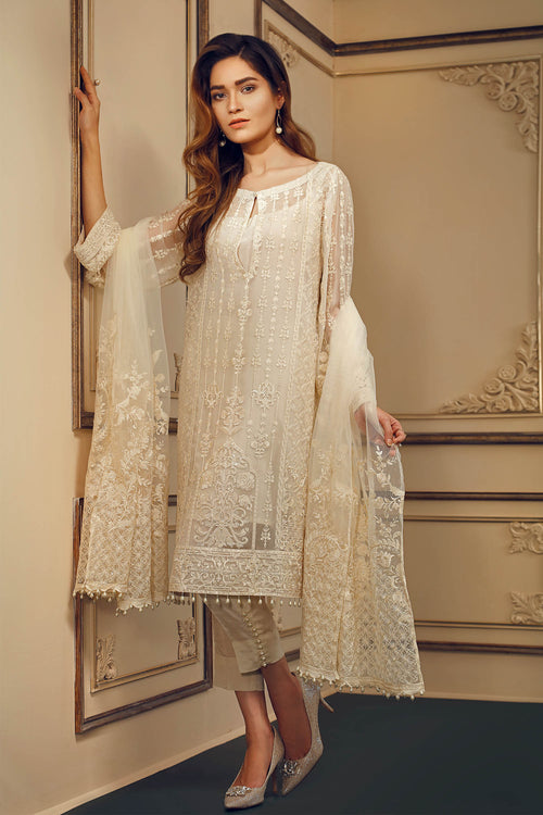 Baroque Chantelle Suit- Pearl Luster | My Desi Shop