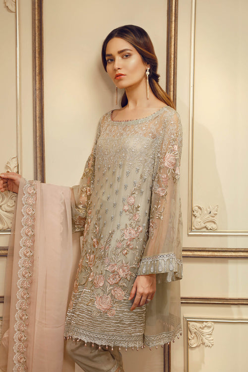 Baroque Chantelle Suit- Pastel Perfection | My Desi Shop
