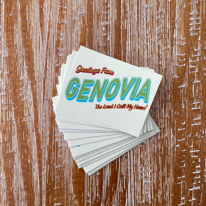 GREETINGS FROM GENOVIA! STICKER