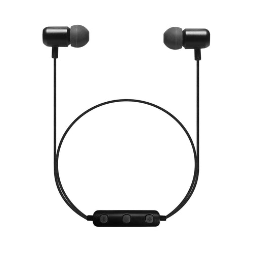 B18 - Bluetooth Wireless Dynamic Stereo In-ear Earphones with Remote Control and Microphone for Smartphones - BLACK