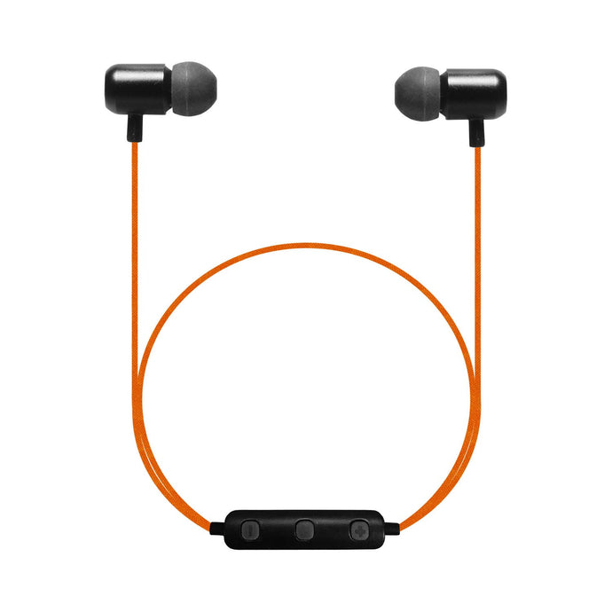 B18 - Bluetooth Wireless Dynamic Stereo In-ear Earphones with Remote Control and Microphone for Smartphones - ORANGE