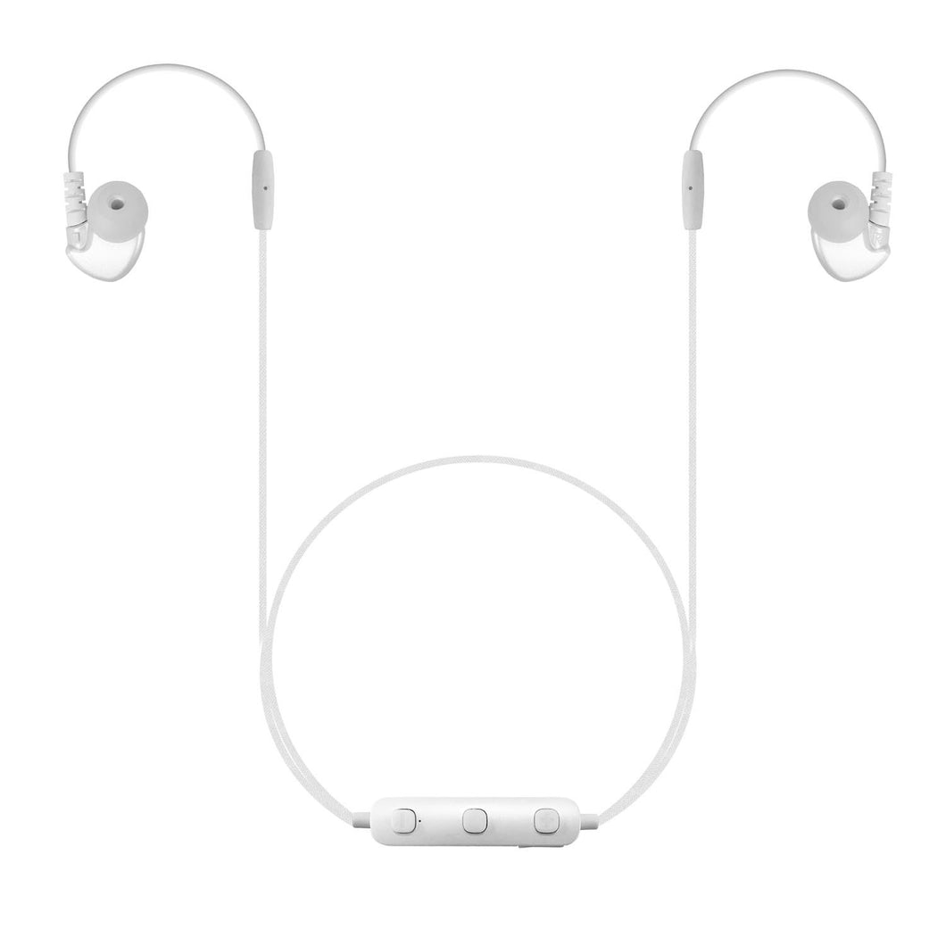 B26 - Bluetooth Wireless Dynamic Stereo In-ear Earphones with Remote Control and Microphone for Smartphones - WHITE