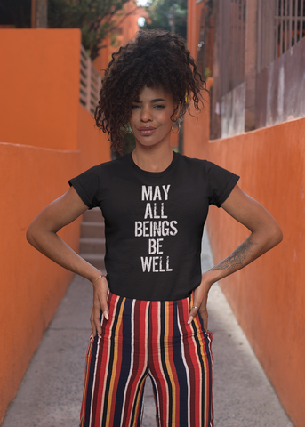 May All Beings Be Well Adult Capsleeve Tee