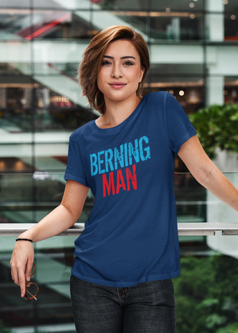 Berning Man Adult Capsleeve Tee